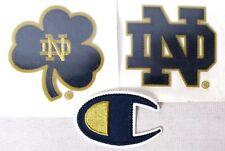 (Set of 3) NOTRE DAME FIGHTING IRISH Logo/Shamrock iron/sew-on Patch Sublimation