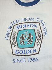Vintage 1988 Molson Golden Beer California Canadian Liquor Paper Thin T Shirt M