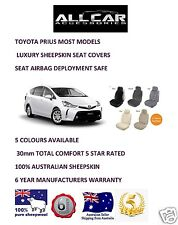 Sheepskin Car Seatcovers for a Toyota Prius , 5 colours, seat  Airbag safe.