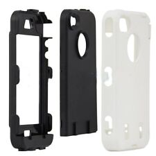 for Apple iPhone 4 4G 4S White Black Impact Armor Hard & Soft Rubber Case Cover