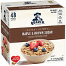 Quaker Oats Instant Oatmeal Maple Brown Sugar Breakfast Cereal Food 48 Packets