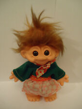 Vintage Rare Red Head Rubber Doll Troll Toy 18cm