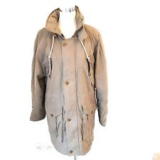 Womens Portland Parka Style Winter Coat Size 12/14 Oiled Cotton Concealed Hood