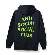 Anti Social Social Club Seal Navy Hoodie Unsealed Size S
