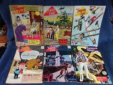 LOT OF 6 1964-67 TREASURE CHEST OF FUN & FACT COMIC BOOKS