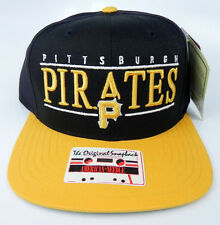 online store 3e594 3f708 PITTSBURGH PIRATES VINTAGE SNAPBACK RETRO 2-TONE BAR CAP HAT NWT AMERICAN  NEEDLE