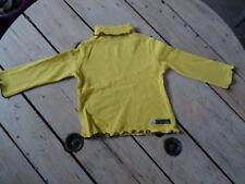 T-shirt manches longues jaune vert moutarde SUCRE D'ORGE Taille 5 ans / 110 cm