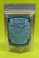 SOURSOP*GRAVIOLA LEAF*GUANABANA*PAW-PAW*ANNONA MURICATA*NON-GMO*650MG capsules