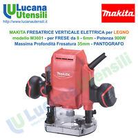 MAKITA FRESATRICE VERTICALE LEGNO modello M3601 Frese 8-6mm 900W 35mm PANTOGRAFO