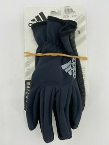 Adidas Clima Run Thermal Running Gloves Size Small Black NEW