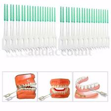 40PCS Soft Clean Between Interdental Floss Brushes Color Blue Oral Care Tool 2''