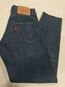 Levis  Clothing 505-0217 Selvedge Jeans Size 24 BIG E NEW