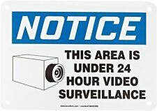 """Accuform MASE806VS Adhesive Vinyl , """"Notice This Area Under 24 Hour....."""""""