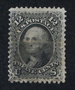 VERY AFFORDABLE GENUINE SCOTT #69 USED 1861 12¢ BLACK CORK CANCEL - ESTATE SALE