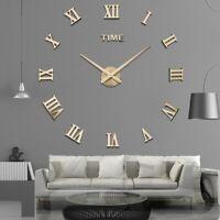 3D DIY Acrylic Mirror Wall Clock Quartz Watch Modern Home Decoration Living Room