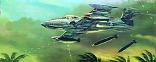 Vintage (1968) AURORA Kit 147-130, CESSNA A-37 STRIKE JET, 1/43, 100% COMPLETE
