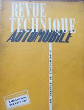 Revue technique CADILLAC 1949/50 BOITE HYDRAMATIC REGLAGE SOLEX 32 RTA MARS 1951