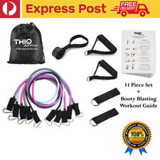 Thiq Active |11PCS Strap Resistance Bands Exercise Home Gym Tube Fitness Elastic