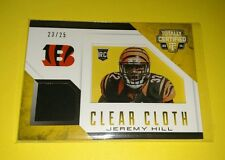2014 Totally Certified Football JEREMY HILL Clear Cloth Insert BENGALS /25