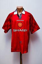 MANCHESTER UNITED ENGLAND 1996/1997/1998 HOME FOOTBALL SHIRT JERSEY UMBRO