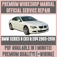 WORKSHOP MANUAL SERVICE & REPAIR GUIDE for BMW E63 & E64 2003-2010 +WIRING