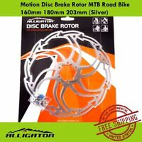 Alligator Motion Disc Brake Rotor MTB Road Bike w/160mm/180mm/203mm (Silver)