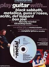 PLAY GUITAR WITH The METAL ALBUM Book & CD Tab