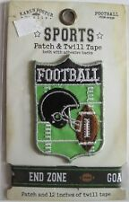 Football Patch & Twill Tape Adhesive Backs End Zone RARE Karen Foster