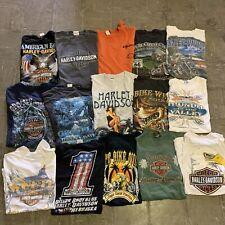 Vintage Harley Davidson Sturgis Rally Biker Wholesale T shirt 15 Lot Bundle 00s