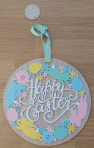 Happy Easter Round Hanging Plaque