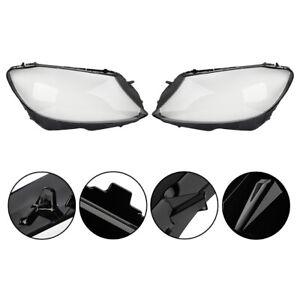 For Mercedes Benz C-class C200 C260L 280 14-2017 Headlight Cover Clear Lens L+R