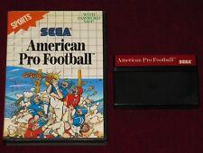SEGA MASTER SYSTEM - AMERICAN PRO FOOTBALL! BOXED RARE 8 BIT GAME EUR SPORTS