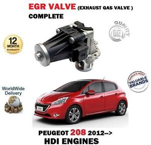Pour Peugeot 208 1.4 HDI 1.6HDI 2012- > Neuf EGR Soupape Échappement Gas Complet