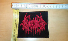 BLOODBATH PATCH BLACK RED LOGO DEATH HELLHAMMER MORBID ANGEL OBITUARY