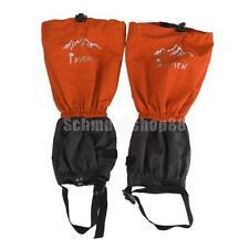 Wasserdicht Gamaschen Nässeschutz für Wandern Outdoor Klettern Orange