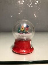 2005 Bel Kaukauna Usa Mini Babybel Cheese Snow Globe Babybels Ice Skating 2.25""