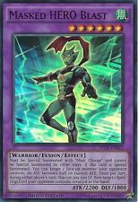 YU-GI-OH CARD: MASKED HERO BLAST - SUPER RARE - RATE-ENSE2 - LIMITED EDITION