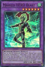 YU-GI-OH CARD: MASKED HERO BLAST - SUPER RARE - RATE-ENSE2 - LIMITED EDITION