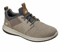 NIB MEN'S SKECHERS 65474/TPE DELSON CAMBEN TAUPE  MEMORY FOAM CLASSIC FIT SHOES
