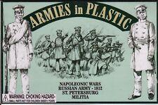 Armies in Plastic Napoleonic Wars Russian St. Petersburg Militia 1/32 Scale 54mm