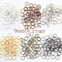 Wholesale Lots 200-450 Pcs Metal Split Rings 4/5/6/8/10/12mm Jewelry Making DIY