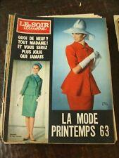 Le Soir Illustré - 28/2/1962 - La mode printemps 63 - Michel Simon -René Hébrant