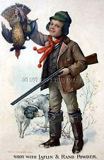 Antique Photograph Reprint Grouse Hunting Laflin Rand Smokeless Powder 6