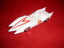 "MACH 5 SPEED RACER WHITE 7"" LONG WHITE PLASTIC MODEL GO SPEED, VERY LITE"