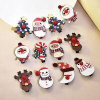 Girl Christmas Hair Clips Xmas Snowman Santa Claus Hairpins Headwear Accessories