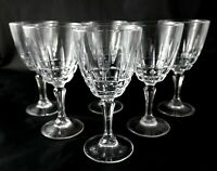6 vintage french crystal glasses luminarc white or red wine glasses