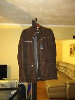 New Suede Men's  Hugo Boss Three Quarter jacket Dark Brown