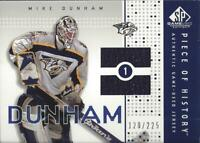 2002-03 SP Game Used Piece of History #PHDU Mike Dunham Jersey /225 - NM-MT