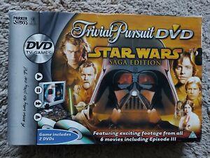 Trivial Pursuit Star Wars Saga Edition DVD Board Game