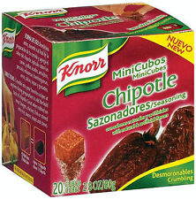 4 X Knorr Chipotle Seasoning 4 Boxes 20 Mini Cubes In Each Box